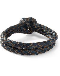 RRL - Braided Rawhide Bracelet - Lyst