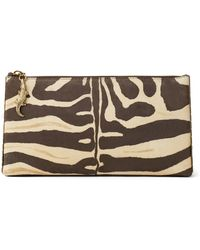 Ralph Lauren - Zebra-print Suede Pouch - Lyst