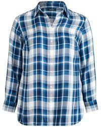 85056553 Ralph Lauren Blue Label Solid Oxford Shirt in Blue - Lyst