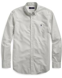 Pink Pony Classic Fit Oxford Shirt - Gray