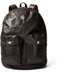 RRL - Leather Mitchell Backpack - Lyst