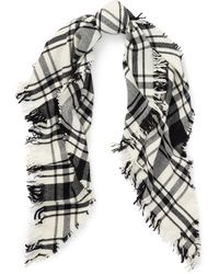 Polo Ralph Lauren - Plaid Wool Triangle Scarf - Lyst