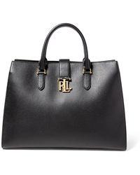 Ralph Lauren - Pebbled Leather Brigitte Tote - Lyst
