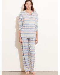 Pink Pony - Striped Cotton Pajama Set - Lyst
