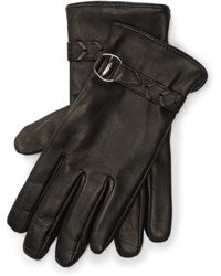 Pink Pony - Bridle Belted Leather Gloves - Lyst