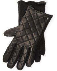 Pink Pony - Quilted Leather Tech Gloves - Lyst