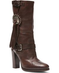 Ralph Lauren | Concho Vachetta Leather Boot | Lyst