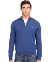 Polo Ralph Lauren | Cotton Half-zip Sweater | Lyst