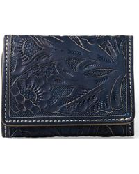RRL - Trifold Tooled Leather Wallet - Lyst
