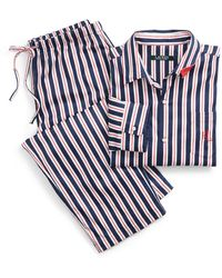 Ralph Lauren - Stripe Cotton Sateen Sleep Set - Lyst