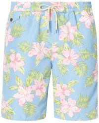 Pink Pony | Floral Traveler Swim Trunk | Lyst