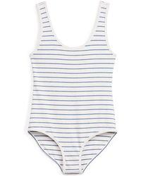 Denim & Supply Ralph Lauren - Striped Jersey Bodysuit - Lyst