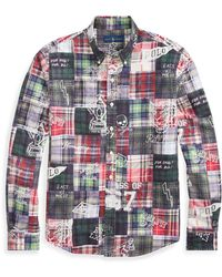 4fd4c50a Lyst - Polo Ralph Lauren Men's Big And Tall Patchwork Poplin Shirt ...