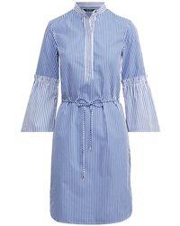 Lauren by Ralph Lauren - Striped Cotton Shirtdress - Lyst