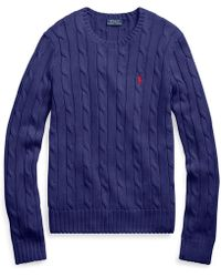 Polo Ralph Lauren - Cable-knit Cotton Jumper - Lyst