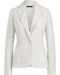 Lauren by Ralph Lauren - Herringbone Tweed Jacket - Lyst