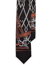 Ralph Lauren Purple Label Art Deco Equestrian Tie - Black