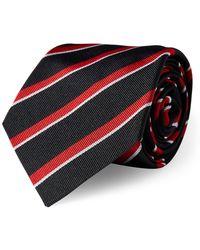 Ralph Lauren Purple Label - Striped Silk Repp Tie - Lyst