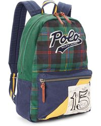 c51f0071a Polo Ralph Lauren Vintage Backpack in Green for Men - Lyst