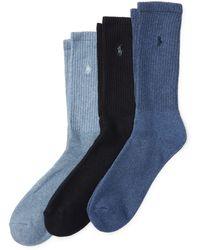 Polo Ralph Lauren - Trouser Sock 3-pack - Lyst