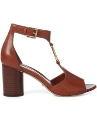 Ralph Lauren - Elesia Leather Sandal - Lyst