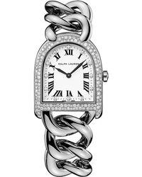 Ralph Lauren - Petite-link Steel Diamonds - Lyst
