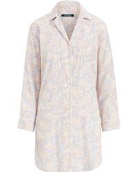Ralph Lauren - Paisley Sleep Shirt - Lyst