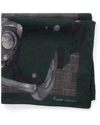 Ralph Lauren Purple Label - Automobile Plaid Pocket Square - Lyst