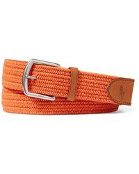 Polo Ralph Lauren - Braided Cotton Stretch Belt - Lyst