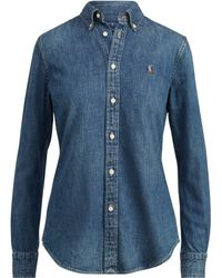 Polo Ralph Lauren - Custom-fit Denim Shirt - Lyst