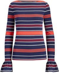 Ralph Lauren - Striped Bell-cuff Top - Lyst