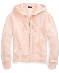 Ralph Lauren - Pink Pony Fleece Zip Hoodie - Lyst 53cd49ae3d