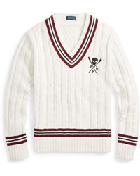 Polo Ralph Lauren - Cotton-blend Cricket Jumper - Lyst
