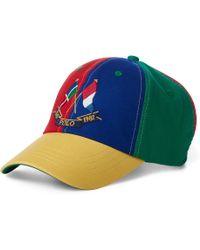 bbb85131 Polo Ralph Lauren Martini Bear Baseball Cap in Black for Men - Lyst
