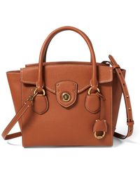 Ralph Lauren - Pebbled Leather Medium Satchel - Lyst