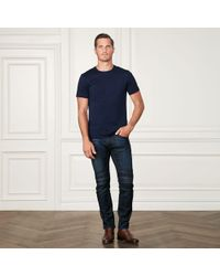Ralph Lauren Purple Label - Cotton Lisle T-shirt - Lyst