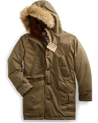 RRL - Shearling-trim Down Parka - Lyst