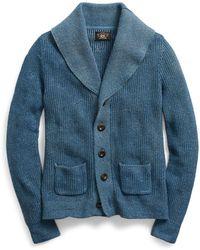 RRL - Cotton Shawl-collar Cardigan - Lyst