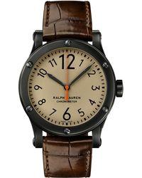 Ralph Lauren - 45 Mm Chronometer Steel - Lyst