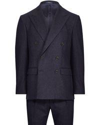 Polo Ralph Lauren - Polo Chalk-stripe Flannel Suit - Lyst
