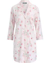 Lyst - Lauren By Ralph Lauren Plus Size Cotton Sateen Sleepshirt in Blue f119ee69d