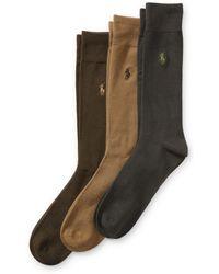 Polo Ralph Lauren - Supersoft Trouser Sock 3-pack - Lyst