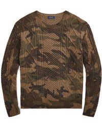 ea0261887 Denim   Supply Ralph Lauren Camo Shawl-Collar Cardigan in Green for Men -  Lyst