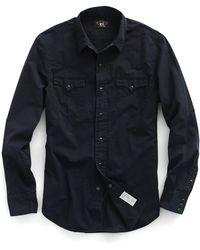 RRL - Slim Cotton Western Shirt - Lyst