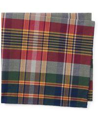 Polo Ralph Lauren   Cotton Madras Pocket Square   Lyst