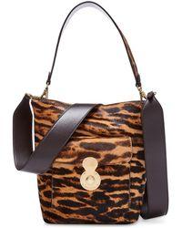 Ralph Lauren - Haircalf Mini Rl Bucket Bag - Lyst