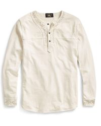 RRL | Embroidered Cotton Henley | Lyst