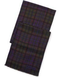 Ralph Lauren Purple Label - Plaid Scarf - Lyst