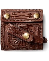 RRL - Hand-tooled Leather Wallet - Lyst