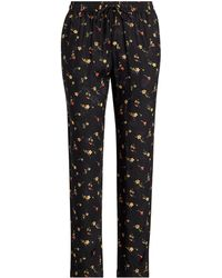 Lauren by Ralph Lauren - Floral Twill Skinny Crop Pant - Lyst